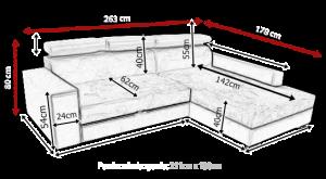 sedací souprava MEXICO DE LUX – HC 51 / Soft černý KINAS