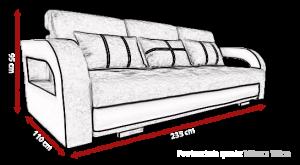 pohovka NINA + taburet – Doti 91 / Soft 17 KINAS