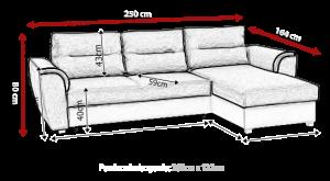 sedací souprava TOMEK – Inari 78 / Soft černý KINAS