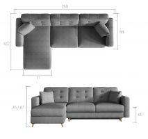 rohová sedací souprava ASGARD - Cover 61/ Zigzag 53 EL-TAP