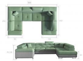 rohová sedací souprava LETTO - Soro 83/ Soft 29 /pillows: Jungle 32 EL-TAP
