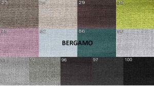 sk.1 -  BERGAMO  - rohová sedací souprava MATEO - potahový materiál cenová skupina I