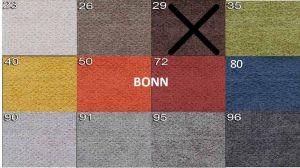 sk.1 - BONN  - rohová sedací souprava MATEO - potahový materiál cenová skupina I