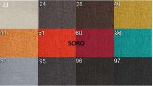 sk.1 - SORO  - rohová sedací souprava MATEO - potahový materiál cenová skupina I