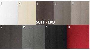 sk.2 - SOFT EKO  - rohová sedací souprava SALERNO  - potahový materiál cenová skupina II