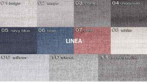 sk.3 - LINEA  - rohová sedací souprava SALERNO  - potahový materiál cenová skupina III