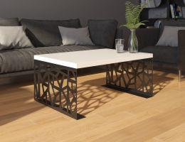 konferenční stolek SEMANIER - bílý  lesk