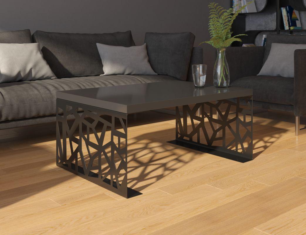 konferenční stolek SEMANIER - černý lesk ADRK