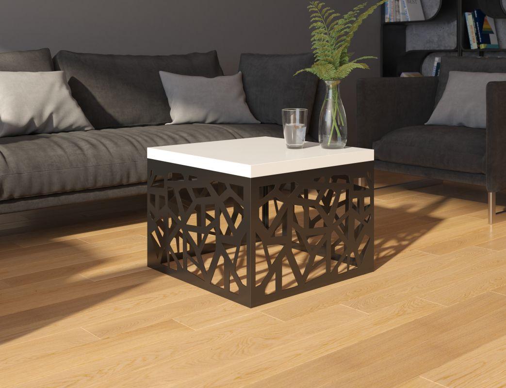 konferenční stolek TACHTA - bílý lesk ADRK