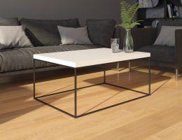 konferenční stolek WERTIKO - bílý  lesk