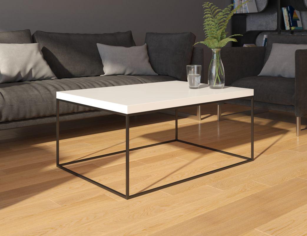konferenční stolek WERTIKO - bílý lesk ADRK