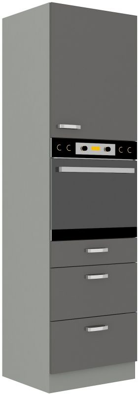 kuchyňská linka GREY - 60 na troubu (60 DPS-210 3S 1F) LEMPERT