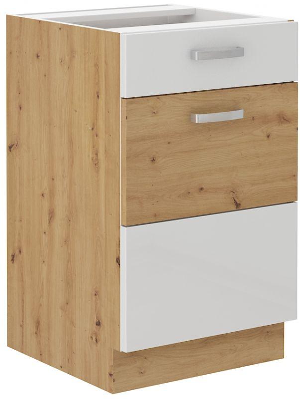 kuchyňská linka ARTISAN BÍLÝ HG - 50 dolní (50 D 1F 1S) LEMPERT