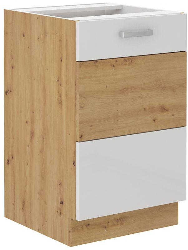 kuchyňská linka ARTISAN BÍLÝ HG - 50 dřez (50 ZL 1F) LEMPERT