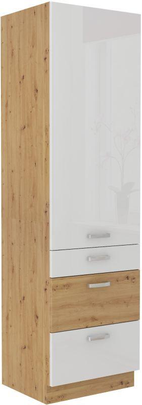 kuchyňská linka ARTISAN BÍLÝ HG - 60 potravinová skříň (60 DKS-210 3S 1F) LEMPERT