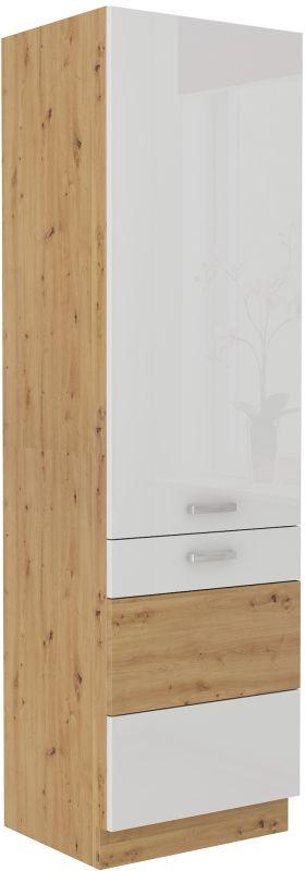 kuchyňská linka ARTISAN BÍLÝ HG - lednicová skříň (60 LO-210 2F) LEMPERT