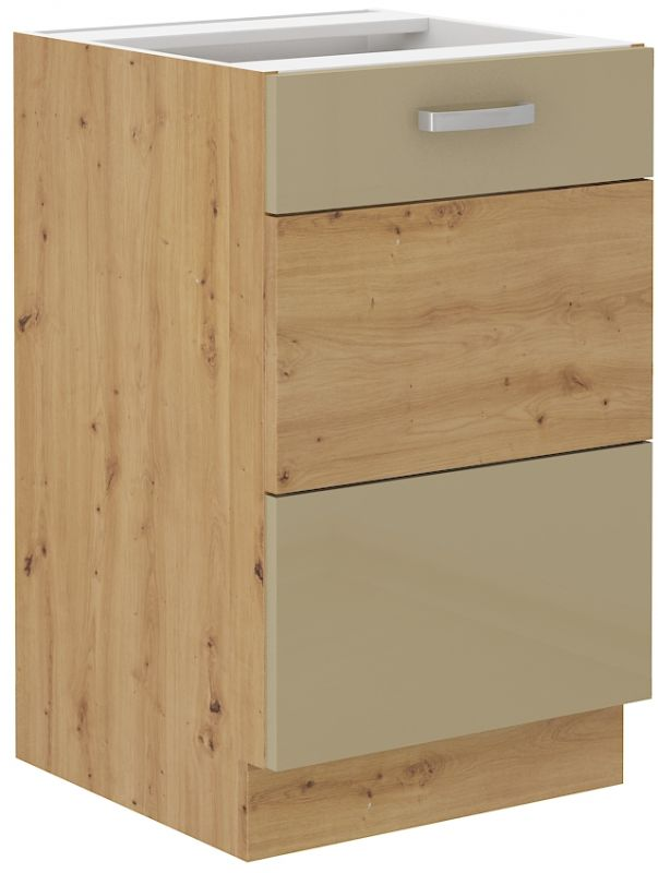 kuchyňská linka ARTISAN CAPPUCINO HG - 50 dřez (50 ZL 1F) LEMPERT