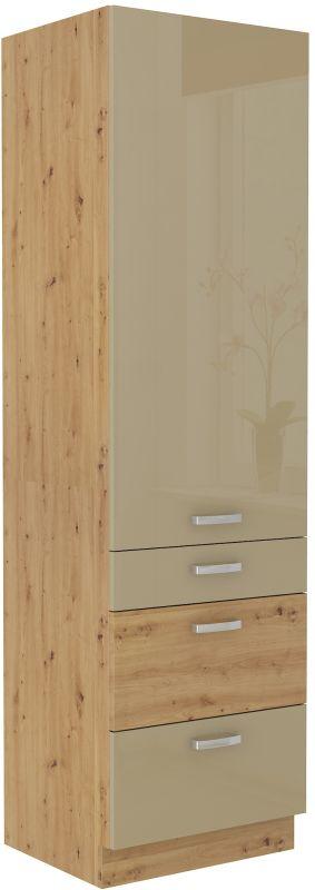 kuchyňská linka ARTISAN CAPPUCINO HG - 60 potravinová skříň (60 DKS-210 3S 1F) LEMPERT