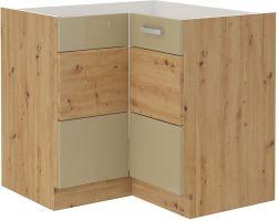 kuchyňská linka ARTISAN CAPPUCINO HG - 89/89 DN dolní roh (89x89 DN 1F)