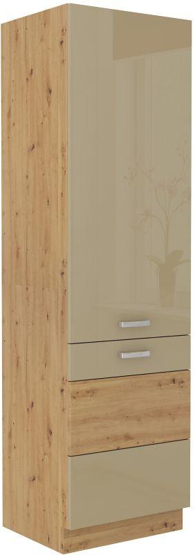 kuchyňská linka ARTISAN CAPPUCINO HG - lednicová skříň (60 LO-210 2F) LEMPERT