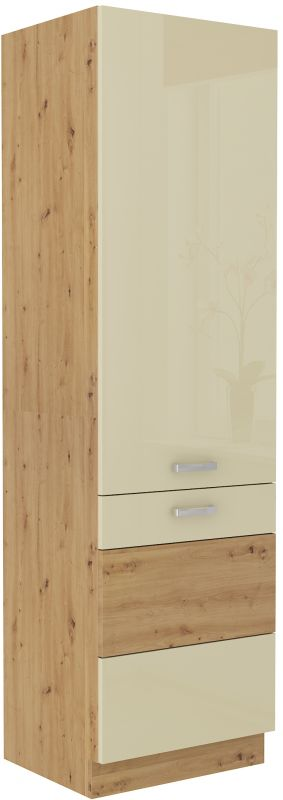 kuchyňská linka ARTISAN KRÉMOVÝ HG - 60 potravinová skříň (60 DK-210 2F) LEMPERT