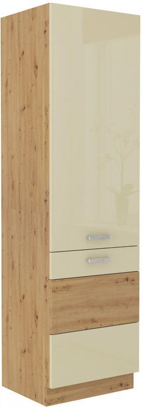 kuchyňská linka ARTISAN KRÉMOVÝ HG - lednicová skříň (60 LO-210 2F) LEMPERT