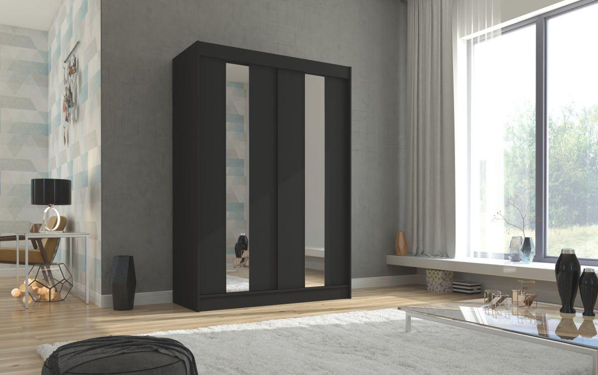 šatní skříň BALTON - BLACK, š.150 ADRK