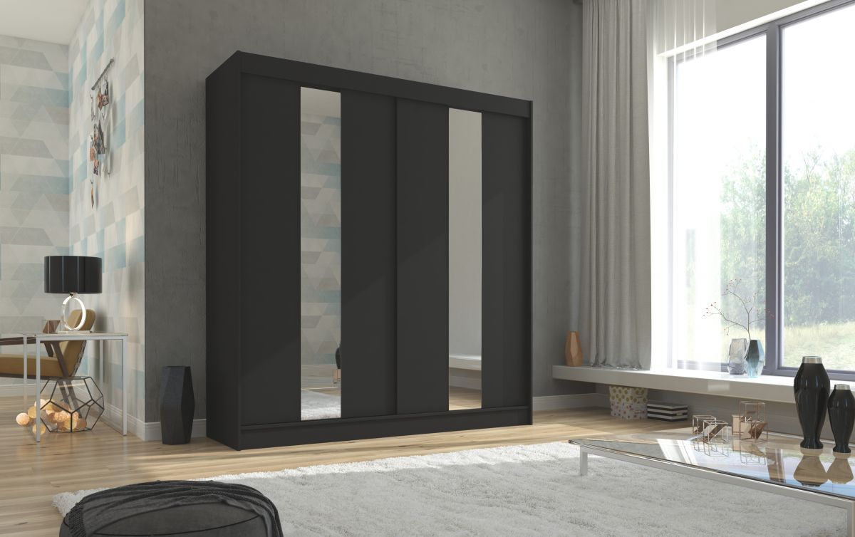 šatní skříň BALTON - BLACK, š.200 ADRK