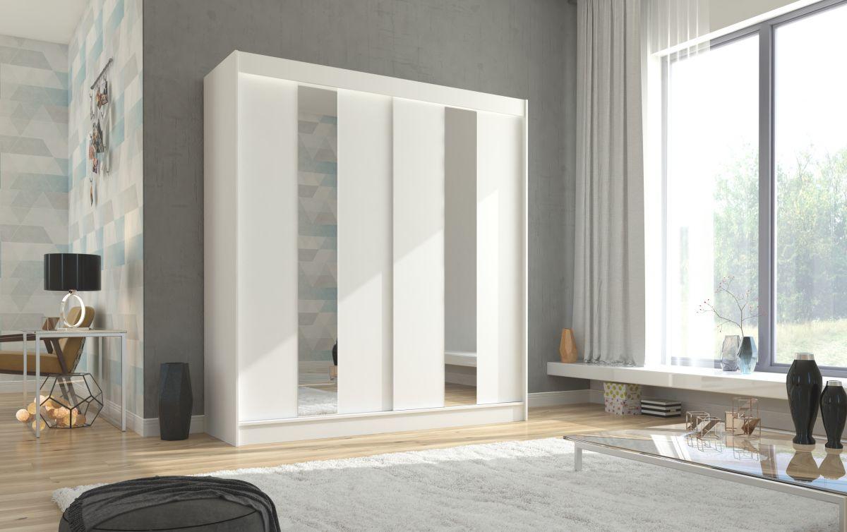 šatní skříň BALTON - WHITE, š.200 ADRK