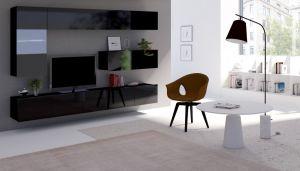 obývací stěna CALABRINI V - černá / černá lesk