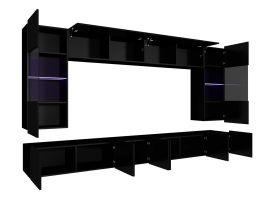 obývací stěna CALABRINI I - černá / černá lesk GIBMEBLE