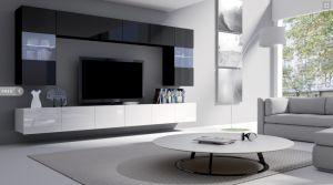 obývací stěna CALABRINI I - černá / bílá lesk