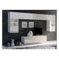 obývací stěna CALABRINI II - bílá / bílá lesk