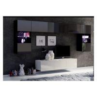 obývací stěna CALABRINI II - černá / bílá lesk