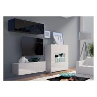 obývací stěna CALABRINI IV - černá / bílá lesk