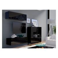 obývací stěna CALABRINI IV - černá / černá lesk
