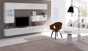 obývací stěna CALABRINI V - bílá / bílá lesk