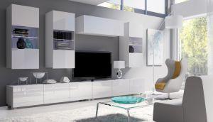 obývací stěna CALABRINI VI - bílá / bílá lesk