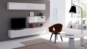 obývací stěna CALABRINI VII - bílá / bílá lesk