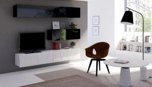 obývací stěna CALABRINI VII - černá / bílá lesk