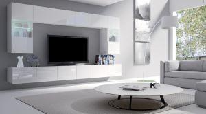 obývací stěna CALABRINI I - bílá / bílá lesk