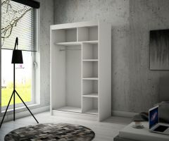 šatní skříň TOURA - CRAFT + WHITE + BLACK, š.120 ADRK