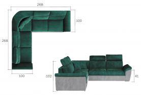 rohová sedací souprava FEDERICO - Sawana 5/ soft eko 11 EL-TAP