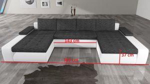 sedací souprava MARINO - Berlin 2/ Soft eko 11 black EL-TAP