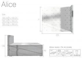 postel boxspring Alice - Soro 65 / 140x200cm EL-TAP