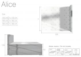 postel boxspring Alice - Soro 76 / 140x200cm EL-TAP
