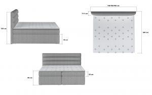 postel Boxspring SOFTY - Omega 91 / 180x200cm EL-TAP