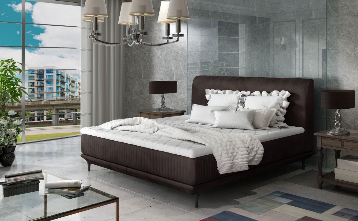 čalouněná postel ASTERIA - Monolith 29 / 164x220cm EL-TAP