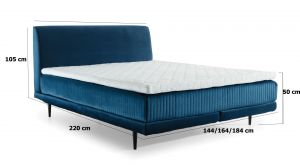 čalouněná postel ASTERIA - Monolith 37 / 144x220cm EL-TAP