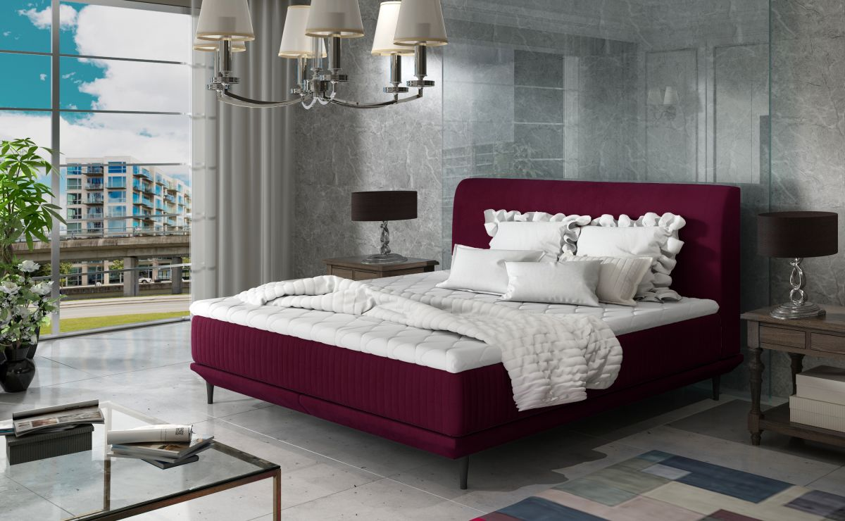 čalouněná postel ASTERIA - MatVelvet 68 / 164x220cm EL-TAP